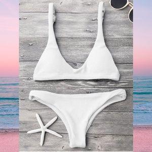 Zaful Low Waisted Padded Scoop Bikini Set